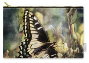 Butterfly On Yellow Flowers Carry-all Pouch