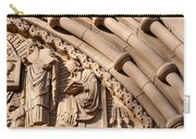 Carved Stone Biblical Mural Above Catholic Cathedral Doorway Carry-all Pouch
