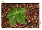 Castor Bean Leaf And Seeds Carry-all Pouch