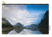 Cloudy Morning At Milford Sound At Sunrise Carry-all Pouch