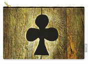 Clover Shape Cut Out Of Wooden Door Carry-all Pouch
