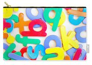 Colorful Letters Carry-all Pouch