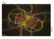 Computer Generated Yellow Vortex Abstract Fractal Flame Art Carry-all Pouch