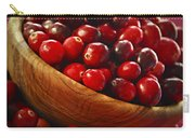 Cranberries In A Bowl Carry-all Pouch by Elena Elisseeva