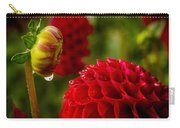 Dahlia Bud With Dew Carry-all Pouch