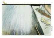 Dancer In Her Dressing Room Carry-all Pouch by Edgar Degas