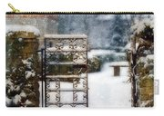 Decorative Iron Gate In Winter Carry-all Pouch