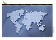 Digitally Generated Image Of The World Carry-all Pouch