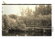 Dock On The River In Sepia Carry-all Pouch