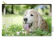 Dog On The Green Grass Carry-all Pouch