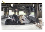 Dogs Lying Under A Train Wagon Carry-all Pouch