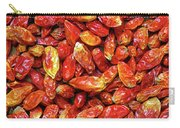 Dried Chili Peppers Carry-all Pouch by Carlos Caetano