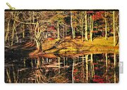 Fall Forest Reflections Carry-all Pouch by Elena Elisseeva
