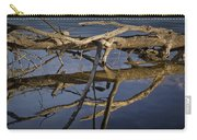 Fallen Tree Trunk With Reflections On The Muskegon River Carry-all Pouch