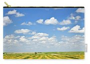 Farm Field At Harvest In Saskatchewan Carry-all Pouch