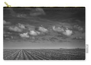 Field Furrows And Clouds In South East Texas Carry-all Pouch