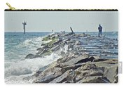 Fishing The Jetty - Island Beach State Park   Nj Carry-all Pouch