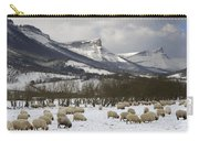 Flock Of Sheep In The Snow Carry-all Pouch