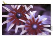 Flower Rudbeckia Fulgida In Uv Light Carry-all Pouch by Ted Kinsman