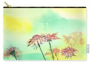 Flowers 2 Carry-all Pouch by Anil Nene