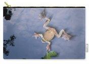 Foam Nest Tree Frog Polypedates Dennysi Carry-all Pouch by Mark Moffett