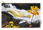 Forest River In The Fall Carry-all Pouch by Elena Elisseeva