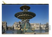 Fountain At Place De La Concorde. Paris. France Carry-all Pouch