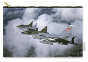 Four Saab 37 Viggen Fighters Carry-all Pouch
