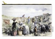 France: Grape Harvest, 1854 Carry-all Pouch by Granger