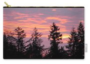 Frosted Morning Silhouette Carry-all Pouch