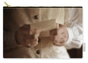 Gentleman In Vintage Clothing Reading A Letter Carry-all Pouch