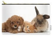Ginger Kitten With Cavapoo Pup Carry-all Pouch