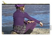 Girl At A Lake Carry-all Pouch by Joana Kruse