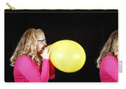 Girl Bursting A Balloon Carry-all Pouch