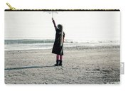 Girl On The Beach With Parasol Carry-all Pouch by Joana Kruse