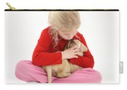 Girl With Puppy Carry-all Pouch