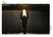Girl With Sunset Carry-all Pouch