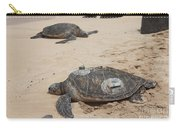 Green Sea Turtles With Gps Carry-all Pouch