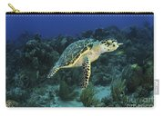 Hawksbill Turtle On Caribbean Reef Carry-all Pouch
