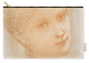 Head Study Of A Girl Carry-all Pouch