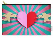 Heart And Cupid On Paper Texture Carry-all Pouch