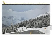 Highway 40 In Winter, Highwood Pass Carry-all Pouch