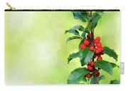 Holly Branch  Carry-all Pouch by Carlos Caetano