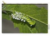 Hornworm With Braconid Wasp Parasites 2 Carry-all Pouch