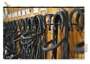 Horse Bridles Hanging In Stable Carry-all Pouch by Elena Elisseeva