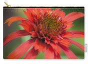 Hot Papaya Coneflower Squared Carry-all Pouch