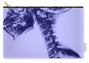 Human Skull And Spine Carry-all Pouch