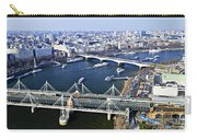 Hungerford Bridge Seen From London Eye Carry-all Pouch
