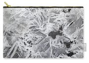 Ice Patterns On Pond, Alberta Canada Carry-all Pouch