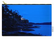 Illuminated Cabin In The Dark At The Seaside Carry-all Pouch